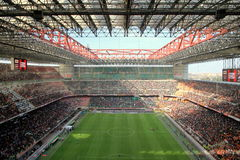 San Siro Stadium. The San Siro stadium during an AC Milan football game royalty free stock photography