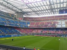 San Siro Stadium em Milão fotografia de stock