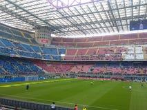 San Siro Stadium en Milán Fotografía de archivo