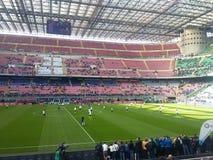 San Siro Stadium i Milan Royaltyfria Foton