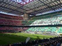 San Siro Stadium i Milan Royaltyfri Bild