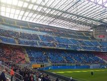 San Siro Stadium i Milan Arkivbild