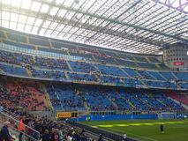 San Siro Stadium in Milan. During the match Inter against Cagliari in a beautifull day with only the sun in the sky Stock Photography