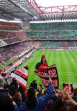 San Siro Stadium. A view of the San Siro Stadium during an AC Milan home SErie A game in Milan, Italy Stock Images