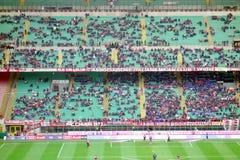 San Siro Stadium. A view of the San Siro Stadium during an AC Milan home SErie A game in Milan, Italy Royalty Free Stock Photos