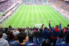 San Siro Stadium. A view of the San Siro Stadium during an AC Milan home SErie A game in Milan, Italy stock photo