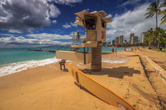 San Souci plaża Waikiki zdjęcia royalty free