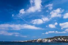 San spärrhakefjärd i Malta arkivbild