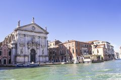 San Stae Church of St. Eustache and his Companions. In Venice stock photos