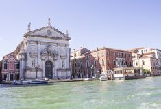 San Stae Church of St. Eustache and his Companions. In Venice stock photography