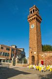 San Stefano square located at Murano Island, Italy Stock Photos