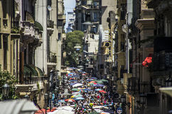 San Telmo in Buenos Aires Stockbild