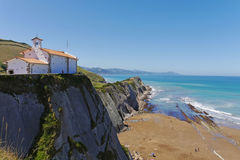 San Telmo Chapel, Zumaia, Gipuzkoa, Basque Country. SPAIN. Royalty Free Stock Images