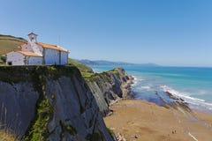 San Telmo Chapel, Zumaia, Gipuzkoa, país Basque spain imagens de stock royalty free
