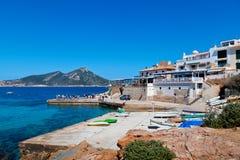 San Telmo Harbor e isla de Dragonera, Majorca Imagen de archivo libre de regalías
