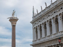 San Teodoro column in Venice Stock Image