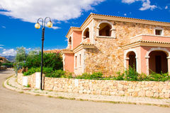 SAN TEODORO, ITALY is a typical seaside Sardinian town. villas for rent homes, cute Italian street Stock Images