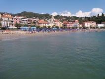 San Terenzo in der Stadt von Lerici Lizenzfreie Stockbilder