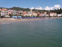 San Terenzo in the town of Lerici Royalty Free Stock Images