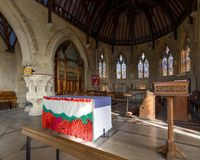 San Thomas Church Altar e leggio Fotografie Stock