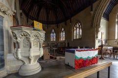 San Thomas Church Altar e quadro di comando Immagini Stock