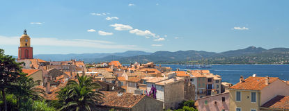 San Tropez com vista superior Imagem de Stock
