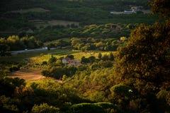 San Tropez Francja przedmieście 2016 Odgórny widok dolina Zdjęcia Royalty Free