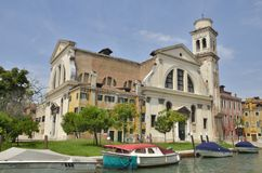 San Trovaso con dos fachadas Imagenes de archivo
