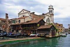 San Trovaso, Venedig Stockbild