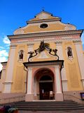 San Ulrico Church in Ortisei , Italy Royalty Free Stock Photo
