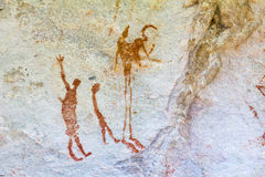 San vaggar konst i Cederberg berg Sydafrika Royaltyfri Foto