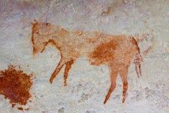 San vaggar konst i Cederberg berg Sydafrika Arkivbild