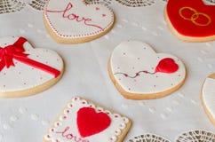 SAN ValentÃn - γαμήλια μπισκότα Στοκ Εικόνα