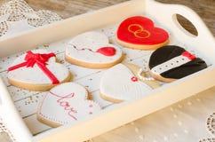 SAN ValentÃn - γαμήλια μπισκότα Στοκ Φωτογραφία