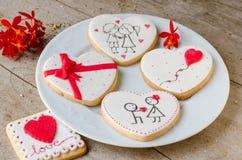 SAN ValentÃn - γαμήλια μπισκότα Στοκ Εικόνες
