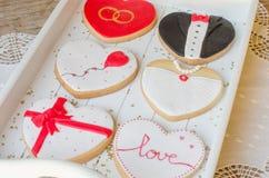 San ValentÃn - biscuits de mariage Image libre de droits