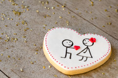 San Valentín - wedding cookie. Royalty Free Stock Photo
