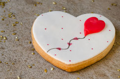 San Valentín - wedding cookie. Royalty Free Stock Image
