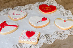 San Valentín - wedding cookies. Royalty Free Stock Images