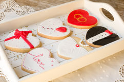 San Valentín - wedding cookies. Stock Photography