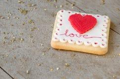 San Valentín - wedding cookie. Royalty Free Stock Photo