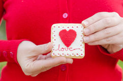 San Valentín - wedding cookie. Royalty Free Stock Photography