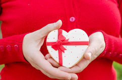 San Valentín - wedding cookie. Royalty Free Stock Photography
