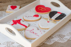 San Valentín - wedding cookies. Royalty Free Stock Photography