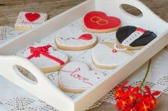 San Valentín - wedding cookies. Royalty Free Stock Photos