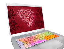 San Valentin keyboard Royalty Free Stock Photos