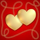 San Valentine Greeting Card di vettore Fotografia Stock
