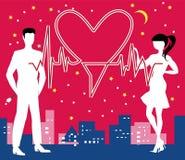 San Valentine Heartbeat Fotografia Stock