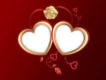 San valentine hearts background Royalty Free Stock Images