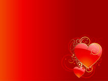 San valentine hearts background Stock Image